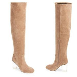 Jeffrey Campbell Perou-LH OverKnee Faux Suede Boot